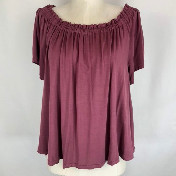 Aritzia Wilfred Sartre Off the Shoulder Top